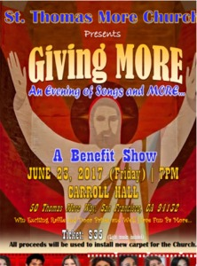 June 23, 2017: An Evening of Songs and More…